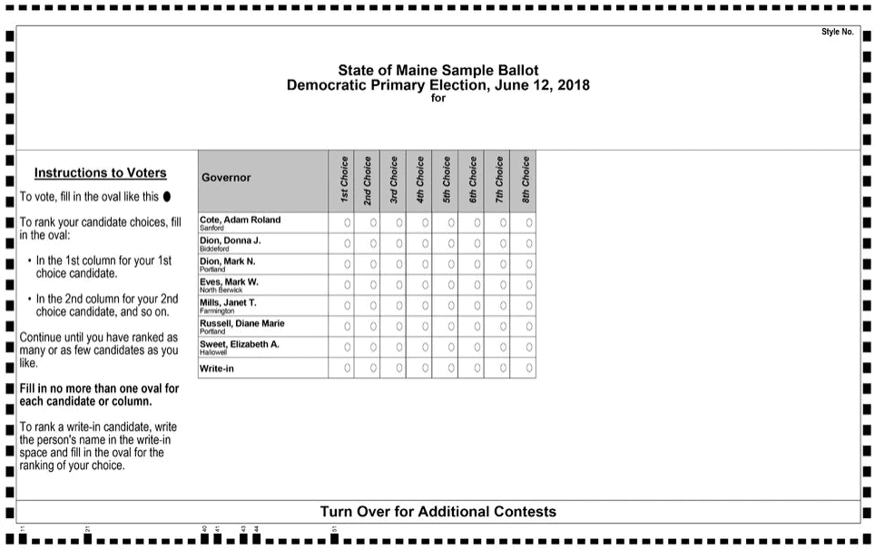 Maine ballot