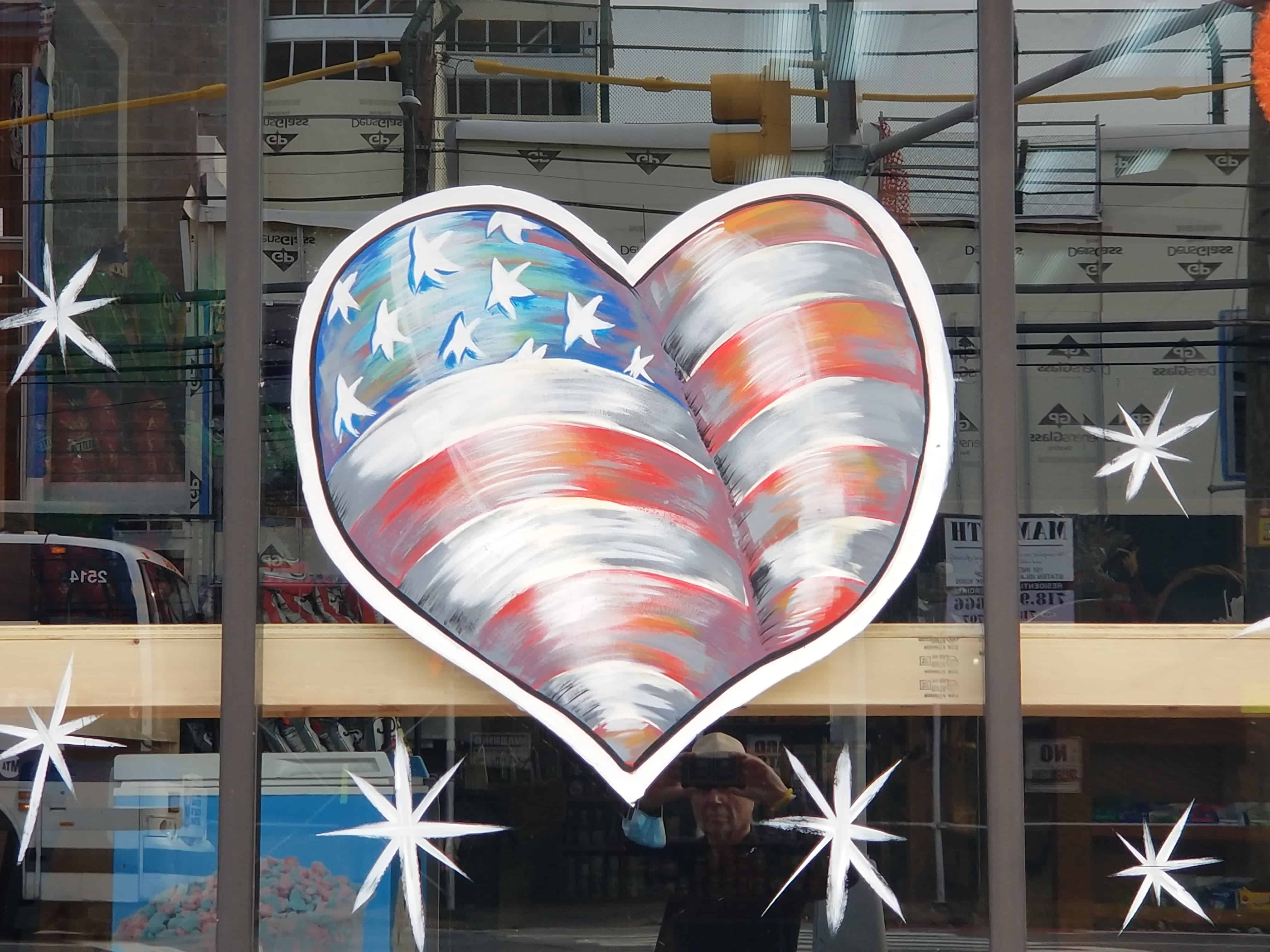 flag heart Staten Island