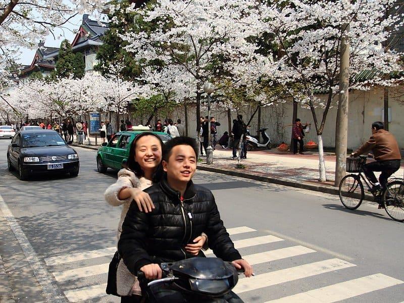 china motorbike in spring